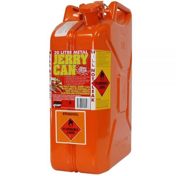 20L Ethanol AFAC Metal Jerry Can Front