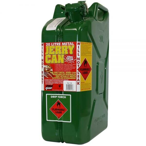 20L Drip Torch AFAC Metal Jerry Can Front