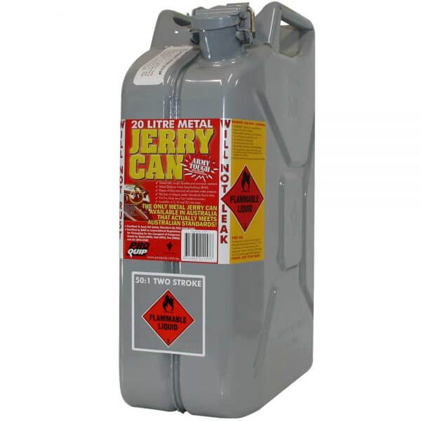 20L 2 Stroke 50:1 AFAC Metal Jerry Can Front