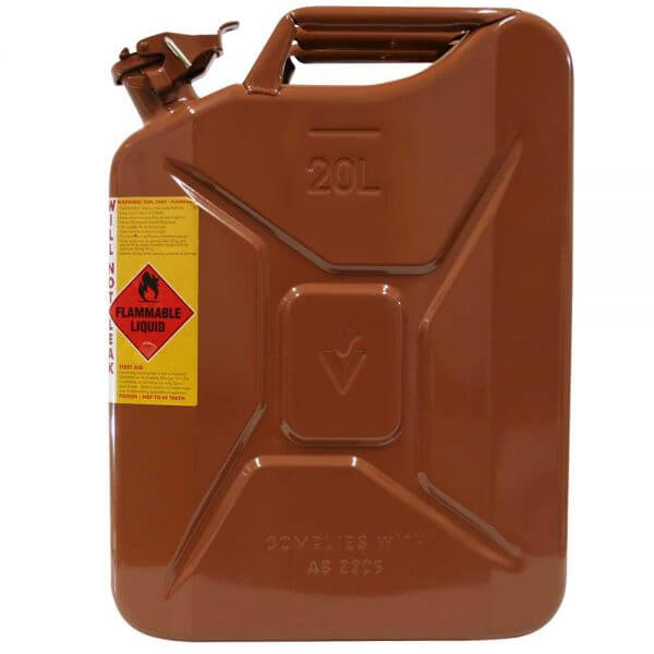 20L Bio Diesel AFAC Metal Jerry Can Side