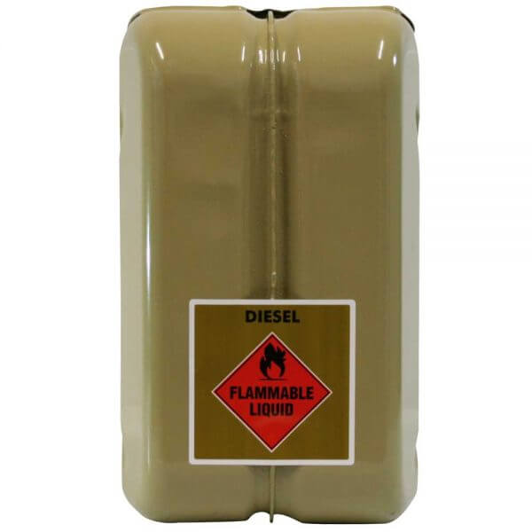 10L Diesel AFAC Metal Jerry Can Back