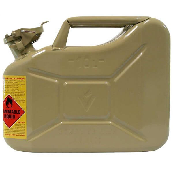 10L Diesel AFAC Metal Jerry Can Side
