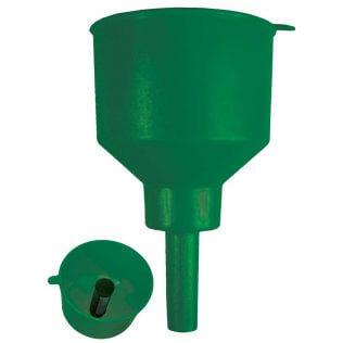 Green Non-Conductive Fuel Filter Funnel