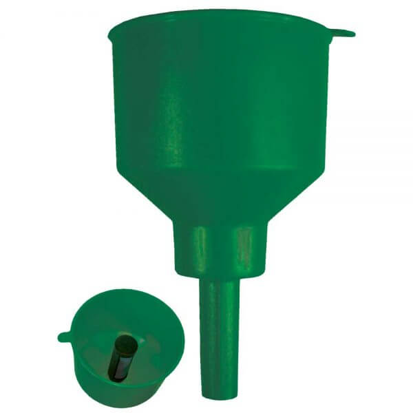 Green Non-Conductive Fuel Filter Funnel