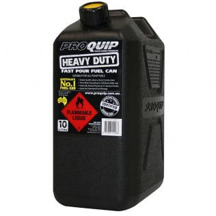 10L Heavy Duty Plastic Fuel Can Front