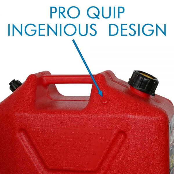 20L Red Plastic Unleaded Fuel Can with Pourer_Storage_Nub_1