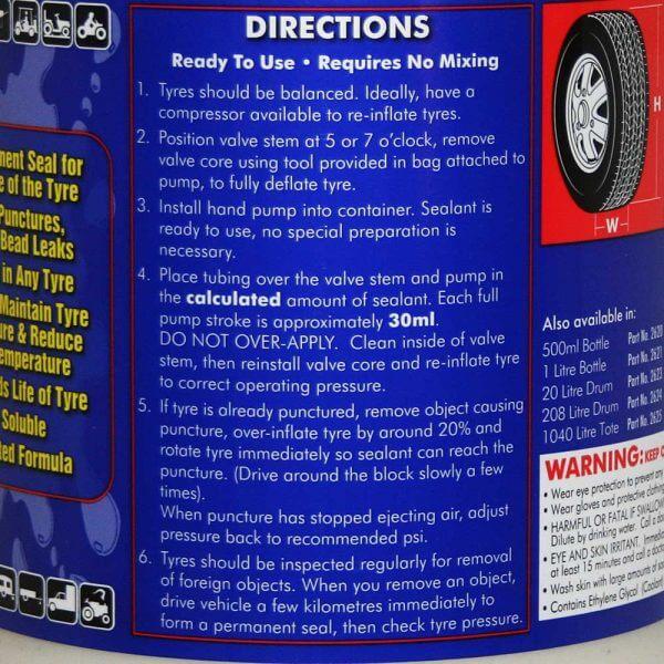 LiQuiTube Tyre Sealant 4 Litre Pump Pack