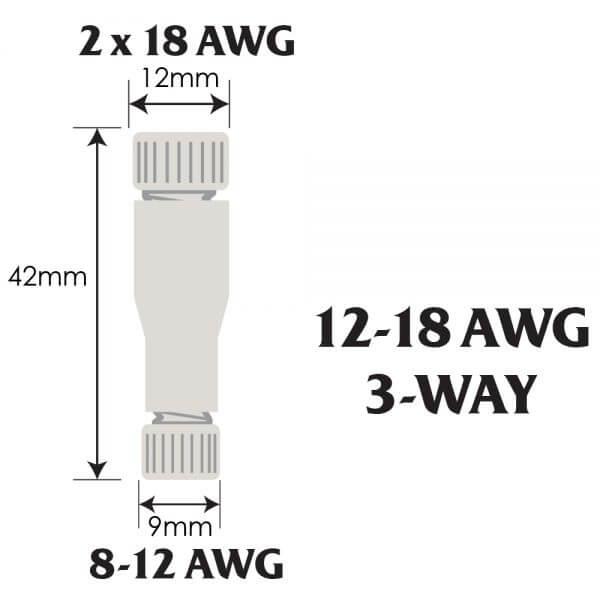 Posi-Lock 12-18 AWG 3-Way