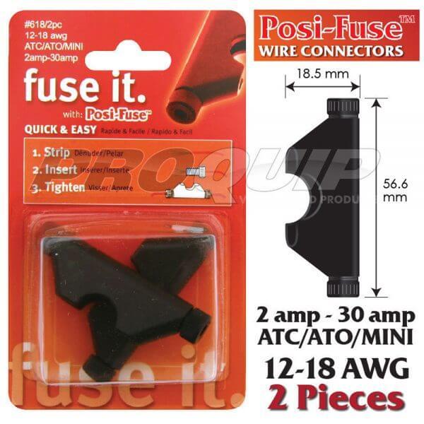 Posi-Lock 12-18 AWG Mini Fuse Holder & Wire Connectors