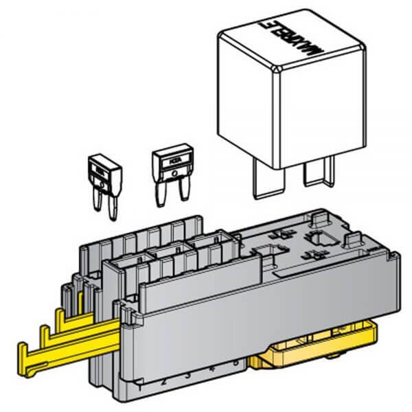 10 Minival + 1 Maxi Relay Module