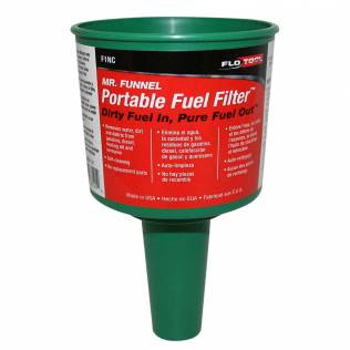 Green Non Conductive Fuel Filter Funnel