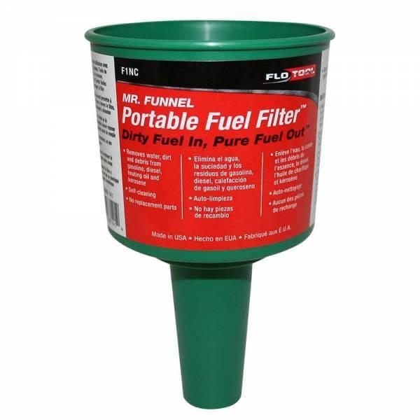Green Non Conductive Fuel Filter Funnel