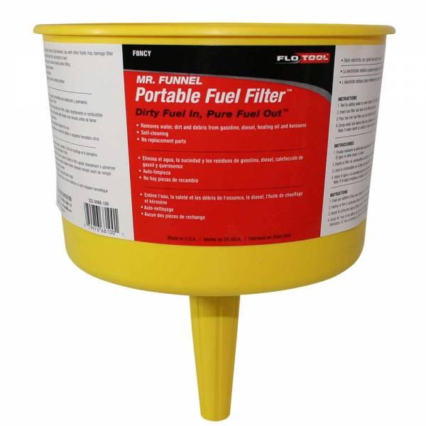 Yellow Non Conductive Fuel Filter Funnel_1