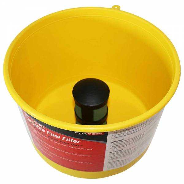 Yellow Non Conductive Fuel Filter Funnel_2