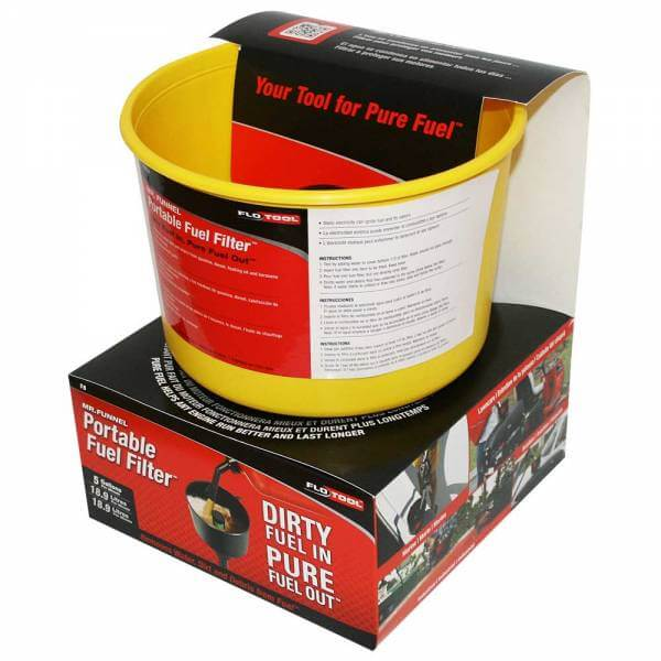 Yellow Non Conductive Fuel Filter Funnel_4